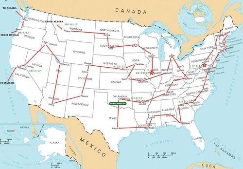 50 Capitols Map