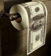 Toilet paper money roll