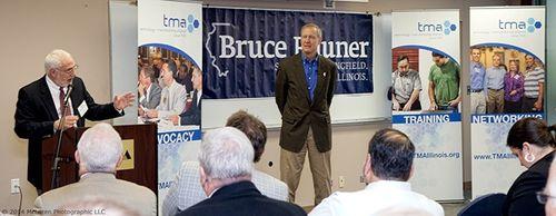 TMA President Steve Rauschenberger welcomes Bruce Rauner