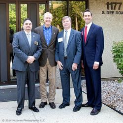 Left to Right. TMA Vice Chairman Fernando Ortiz, Bruce Rauner, TMA Lobbyist Jay Shattuck, TMA Immediate Past Chairman Zach Mottl