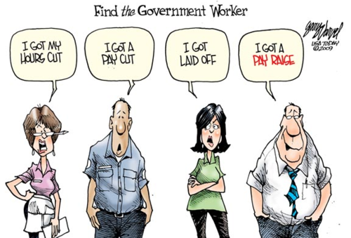 GOVERNMENT WORKERS, obamacartoon