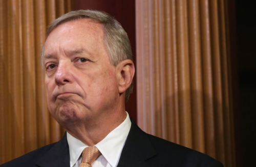 Image result for Senator Dick Durbin grim face