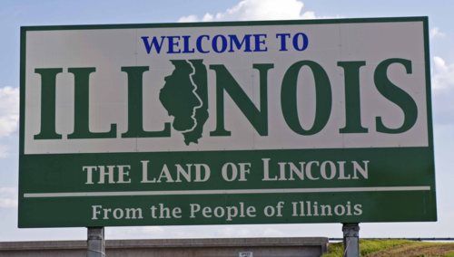 Illinois sign 123rf