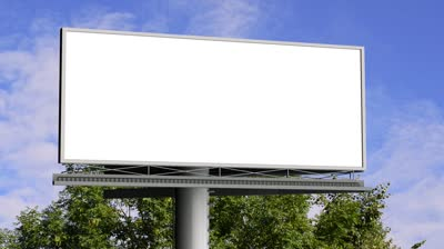 Stock-footage-billboard-with-empty-screen