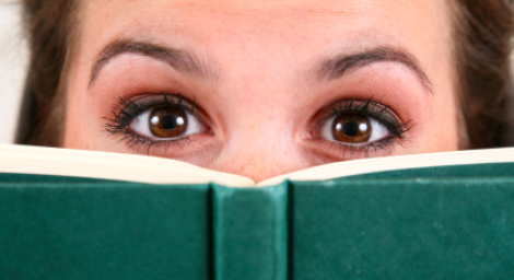 Eyes-over-book