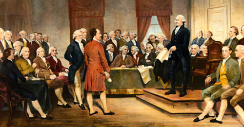Founding-Fathers-painting-by-Junius-Brutus-Steams-1856