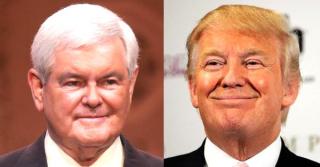 Newt-Gingrich-vs-Donald-Trump