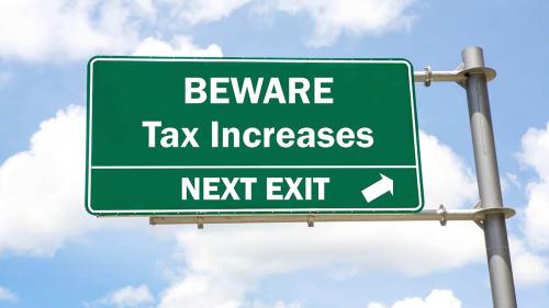 Tax hike street sign-1