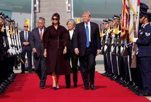 Melania-Trump-lands-in-Korea-