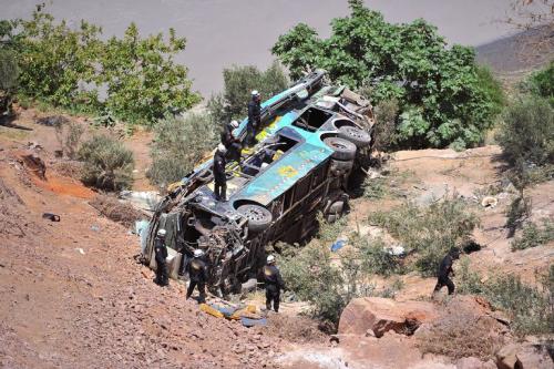 Pan american highway crash peru
