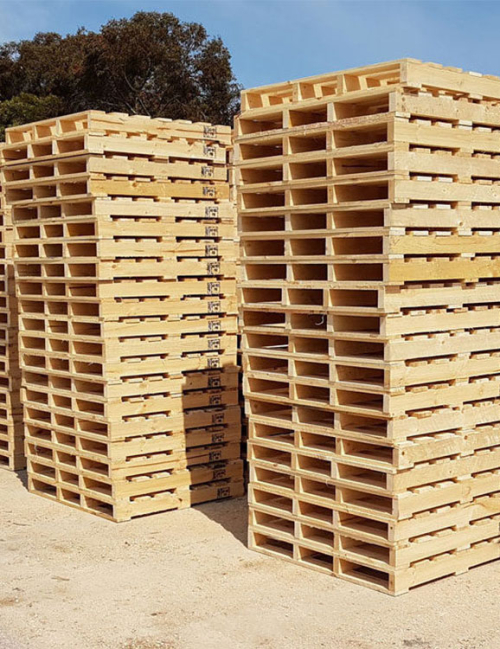 ISPM-15-1 stacks of pallets