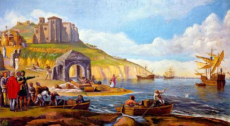 Columbus Sets Sail from Palos de la Frontera