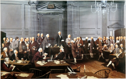 Signing of the Constitution by Louis S Glanzman