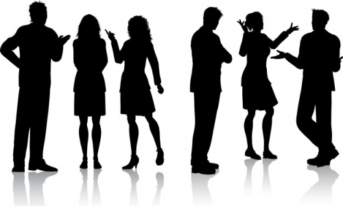 Silhouettes-of-people-talking_1048-5221