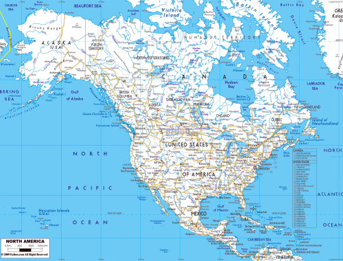 Detailed-road-map-of-north-america-wirh-major-cities